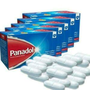 Panadol 500mg paracetamol 144 tablets effective relief from headache,fever &pain
