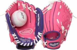 """Rawlings Youth Players Series 9"""" Baseball Glove With Ball LHT"""