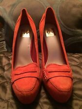 DOLCE VITA Super Sexy Women's Orange Suede Bridgette Pump ~ Size 8.5