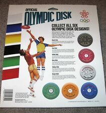 COMPLETE 6pc 1988 XV OLYMPIC WINTER GAMES DISC SET, FRISBEE DISC GOLF