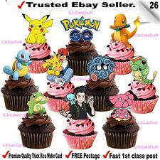 POKEMON GO Iphone STAND UP Edible Cupcake Fairy Cake Topper Edible Decorations