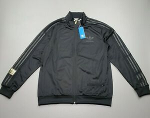 NEW adidas Men's Originals CHILE 20 Track Top Full Zip Jacket Black Size Large