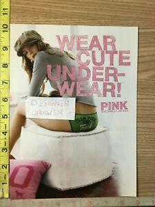 Victoria's Secret PINK 2006 Wear Cute Underwear Print Ad: Green Bikini Scene