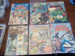18 Vintage 1960s to 1970s Comics by Charlton Comics  - Billy The Kid, Texas Rang