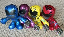 New Four (4) pack POWER RANGERS 8 INCH PLUSH Red Pink Blue Yellow Ranger Stuffed