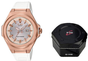 NEW Baby G G-MS Casio Women's MSGS500G-7A2 Watch Rose Gold & White Solar Powered