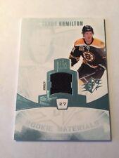 2013-14 SPX Rookie Materials card #RM-DH of Dougie Hamilton Boston Bruins