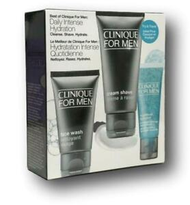Clinique For Men Daily Intense Hydration Face Wash Cream Shave Hydration Set NIB