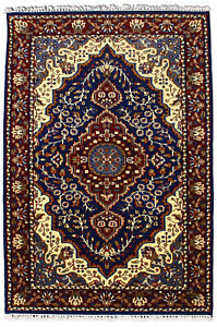 4x6 Indian Handmade All Wool Area Rug Hand Knotted Antique Look Oriental Carpet