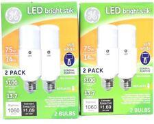 2 GE 14w Soft White 1060 Lumen Non Dimmable General Purpose 2 Ct LED Bright Stik