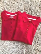 Izod Approved Schoolwear Girl Polo Short Sleeve Shirts Red Size M 10/12 Reg Nwt
