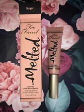 Too Faced Melted Lipstick - Sugar - New In Box 12ml/0.4floz Full Size