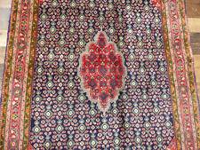 "New listing 3'5""x5' Authentic Handmade wool Oriental Geometric Blue Malayer Bidjar area rug"