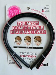 Scunci The Most Comfortable Headband Ever Flexible No-Slip Grip ( 2 pcs ) 20526