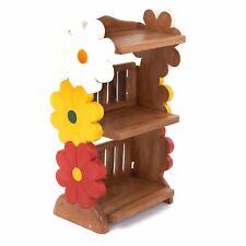 FAIR TRADE Rustic Child's Kids Children Wooden FLOWER BOOK SHELF - FU-624-FL