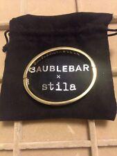 Baublebar by Stila Gold Tone Oval Shape Side Open Bangle Bracelet