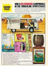 1972 Volkswagen Campmobile Camper Original Advertisement Print Art Car Ad H80