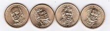 Presidential 4 Dollar Coins, Set 2, 2008, Mint D,  4 very nice coins.