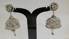 Silver Oxidized Earrings Jhumka Jhumki Jewelry Drop Dangle Long Free Shipping
