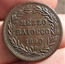MEZZO BIAIOCCO GREGOIRE XVI 1840 R VATICAN
