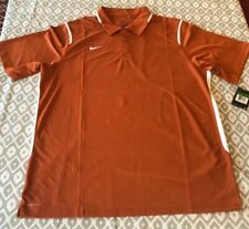 Nike Dri-Fit Game Day Polo Burnt Orange Mens Size Large