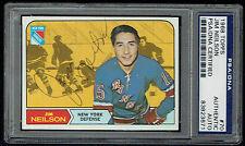 Jim Neilson #70  signed autograph auto 1968 Topps Hockey Trading Card PSA Slab