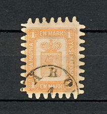 NNDB 060  Finland 1867 USED CV 1500 EUR restored the lower row of perforations