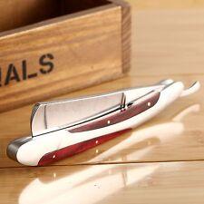 Mens Handle Straight Edge Stainless Barber Hair Razor Folding Shaving Knife
