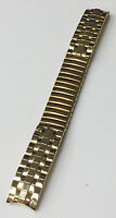 DIPLOMAT VINTAGE 13MM GOLD TONE STAINLESS STEEL STRETCH BAND BRACELET STRAP NOS
