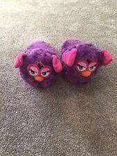 Worn Once Purple Furbie Slippers Ears Move When Walk Size 9 - 11