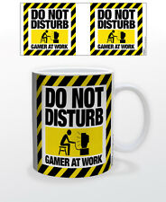 DO NOT DISTURB GAMER AT WORK 11 OZ COFFEE MUG VIDEO GAME ACTION SOFTWARE GRAPHIC