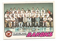1977-78 O-Pee-Chee #75 Cleveland Barons Team Checklist