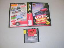 LOTUS TURBO CHALLENGE (Sega Genesis GEN) Game & Box, No Manual