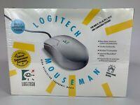 Vintage 1991 Logitech Mouseman Mouse Man Serial & Mouseport Version NEW SEALED