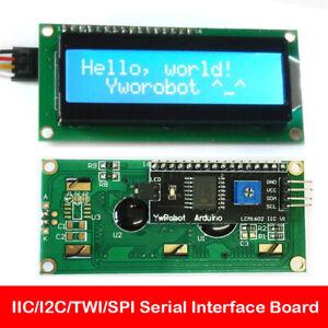 Blue 1602 LCD Display IIC/I2C/TWI/SPI Serial Interface Board Module Port Arduino