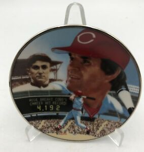 "1985 Pete Rose Gartlan Best of Baseball Limited Edition Mini Plate 3"" Free Stand"