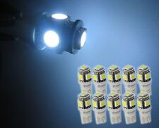 Zone Tech 10x T10 5 SMD 5050 White LED Bulbs Side Light 194 168 W5W Wedge