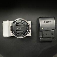 Sony Alpha A5100 24.3MP Digital SLR Camera - White