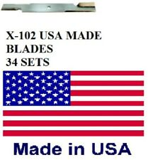 "102 USA MADE BLADES 52"" SCAG, GRAVELY 18"" X 5/8"" 482878 482462 481707 48108 BULK"