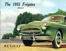 Renault Fregate 1954-55 UK Market Sales Brochure Affaires Amiral