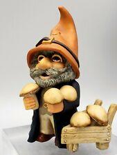 Gnomes Sleepy Hollow Figurine 1989 Bachwurks Holland Studio Mushroom Harvest