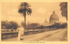 Pope Pius X Walking Along From the Vatican Gardens~Terni, Publisher RPPC c1914