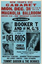 "Booker T and the MGS Magnolia 16"" x 12"" Photo Repro Concert Poster"