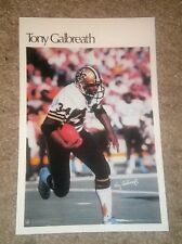 """Tony Galbreath  (Mini Poster) # 33 of 50 NFL 1980 5.5"""" x 8.5""""  Thick Card Stock"""