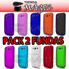 PACK DE 2 Funda Carcasa silicona compatible galaxy S3 i9300  /  10 COLOES!!
