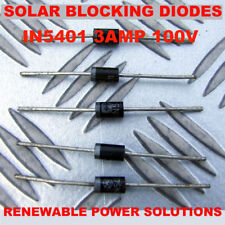 5 x BLOCKING or BYPASS CATASTROPIE DIODES SOLAR BP PV UP TO 40W PER PANEL 3 AMP