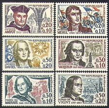 France 1963 Red Cross Fund/People/Composers/Writers/Scientists 6v set (n36927)