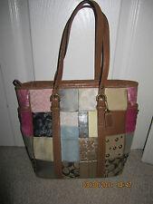 COACH Medium  BROWN Leather Patchwork Tote Handbag Purse B06Q-10001 BAG