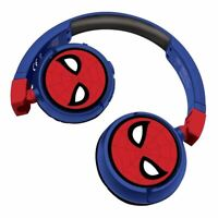 SPIDER-MAN 2-IN-1 BLUETOOTH & WIRED FOLDABLE HEADPHONES RED/BLUE (HPBT010SP)