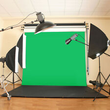 10X10ft Muslin Green Cloth Screen Backdrop Photo Photography Studio